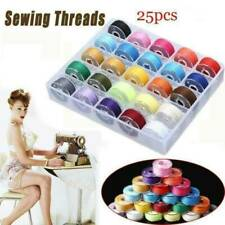 25Pcs Sewing Machine Bobbins Thread Spools Case With Threads for Sewing Machine@