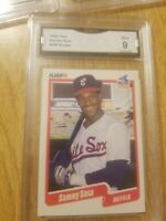 1990 Fleer Sammy Sosa Rookie RC #548- Cubs White Sox - Mint 9 GMA