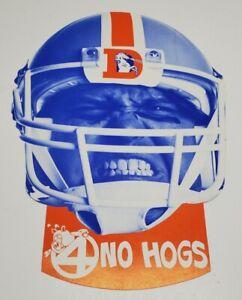 Vtg Denver Broncos Football Channel 4 No Hogs Cardstock Helmet Eye cut out Mask