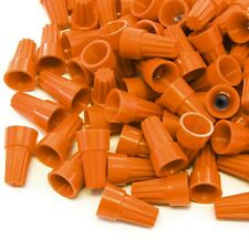 2500 pcs Orange Screw On Wire Electrical Connectors Twist-On Easy Screw Pack