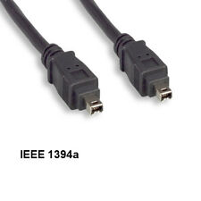 Kentek 10FT 4 to 4Pin IEEE1394a Firewire iLINK DV Cable 400Mbps PC MAC DV Blk AV