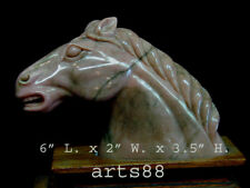 UNIQUE Pink Rhodonite Horse Head - Year of the HORSE
