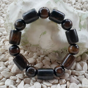 Mix Shape Sea Willow Bracelet 14 Beads Genuine Black Coral 35 Grams #03F