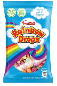 Swizzels RAINBOW DROPS Mini Bag Retro Sweets Wedding Favours Party Treat Size