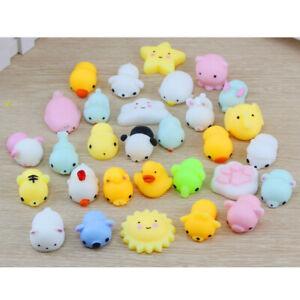 20PCS Cute Mochi Squishies Kids Toys Animal Fidget moshi  Kawaii Rilakkuma Gift