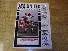 Ayr Home Team Football Scottish Fixtures (1990s)