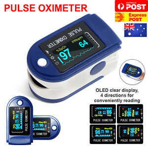 Professional Finger Pulse Oximeter Blood Oxygen Saturation Heart Rate Monitor AU