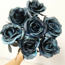 Artificial Silk Pieces Black Rose Bouquet Real Feeling Artificial Flower Decor