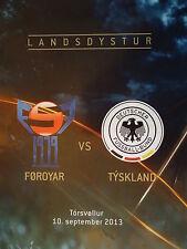 Programm LS WM Quali 10.9.2013 Färöer - Deutschland