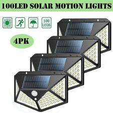 100LED énergie solaire lumière PIR Détecteur de mouvement extérieur murale lampe