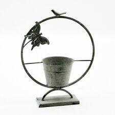 Garden Butterfly Plant Stand Ornament Quirky Lead Colour Flower Pot 40cm