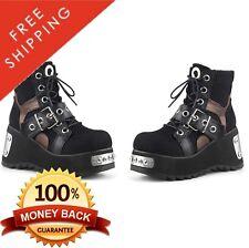 Pleaser Demonia SCENE-53 Women's Front & Back Metal Plated Platform Ankle Boot