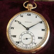 1918 Hamilton 23J Size 12S Grade 920 Open Face Pocket Watch - MINT!