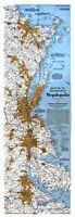 ⫸ 1994-7 Boston to Washington - National Geographic Map Poster Map