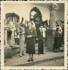 Espagne, La Palma, Santa Cruz, femme Soldat  Vintage print, Photographie provena