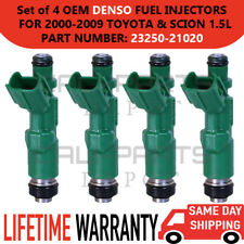 OEM DENSO [4] Fuel Injectors for 2000-09 TOYOTA Echo/Prius & SCION xA/xB 1.5L I4