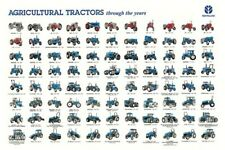 Vintage Fordson Ford New Holland Through The Years Tractor Poster Brochure (A3)