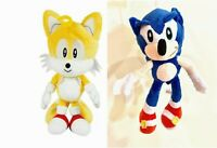 Set of 2 Super Sonic The Hedgehog Tails Plush Doll Stuffed Animal Toys 11in SHIP