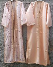 Elegante Caftano da donna color salmone in rayon ed organza - n. 2 pezzi