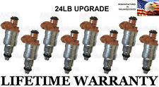 24LB Upgrade Set Of 8 Fuel Injectors for Ford Mustang GT SVT Lincoln  4.6L 5.0L