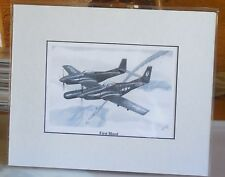 "F-82G Twin Mustang ""First Blood"" 8X10 Matted Art Print by Willie Jones Jr"