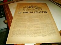 rivista satirica LO SPIRITO FOLLETTO SONZOGNO N. 957 del 2/10/1879 illustrata