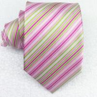 Cravatta uomo seta rosa millerighe  classica Made in Italy business / matrimoni