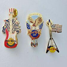 Hard Rock Cafe Pins Lot 3 Patriotic Flag Fireworks July 4th NY Washington DC