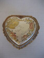 Vintage Westland Co. Heart Shaped Metal Happy Anniversary Music Box Pre-Owned