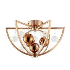 ENDON MUNI MODERN LED FLUSH CEILING LIGHT IN COPPER FINISH MUNI-CO-F