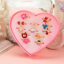 10 PCs Cute Flower and Animal Rings Fashion Jewelry for Girls