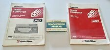 Goldstar msx FC 200 operating system & Basic manual + demo Cassette