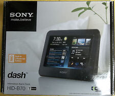 """SONY HID-B70T DASH 7"""" Brown WI-FI Alarm Clock RECHARGEABLE BATTERY NEW"""