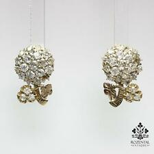 Antique Victorian 18K Gold 1.4ct. Diamond Earrings