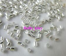3000 pcs Silver plated crimp tube beads 2.5x2mm M735