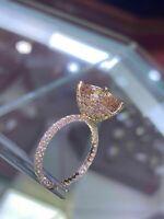 2.50Ct Cushion Cut Morganite Solitaire Engagement Ring 14K Rose Gold Finish