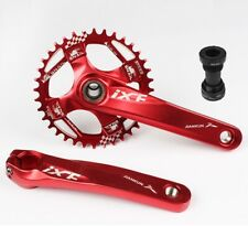 MTB Crankset arm 170mm BB Narrow Wide single Oval Chainring 30 32 34 36 38T Red