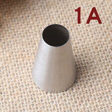 Large Size Round Stainless Steel Cake Nozzle Muffin Maker Icing Piping Tip 1A