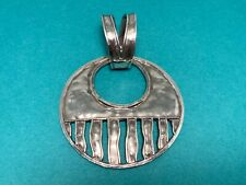 🌸 Silpada 925 Sterling Silver Hammered Wavy  Round Pendant  (P17) 🌸