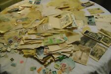 WORLDWIDE-STAMPS ON AND OFF PAPER-OLD COVERS & POSTCARDS-8 POUNDS