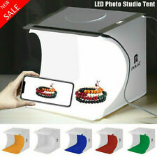 Foldable Photo Studio Mini Light Room Rows LED Photography Tent Box Backdrops