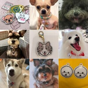 Personalized Handmade Icon  Acrylic ID Tag for Dog Collar Nameplate Pendant