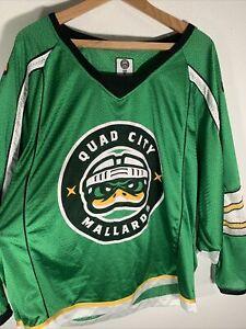 Quad City Mallards SGA Green Hockey Jersey ~ Mens Size XL Game Used