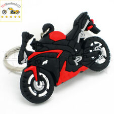 1PCS RED+BLACK  New Rubber Motorcycle Motorbike Cool Keyring Keychain Key Chain