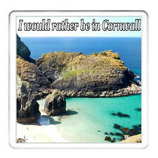 CORNWALL COASTER. Can Be Personalised, I Would Rather Be In Cornwall.