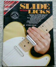 Slide Guitar Licks by Brett Duncan/ For Rock, Blues, Country etc, 56 pg Paperbac