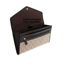 NEW OROTON Signature O Travel Essentials Wallet Chocolate/Taupe BNWT RRP $245