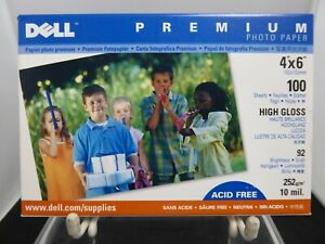 "Dell Premium Photo Paper 4""x 6"" 75 Sheets Acid Free High Gloss"