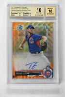 2017 Bowman Chrome Prospects Orange Wave Auto Trevor Clifton /25 BGS 10