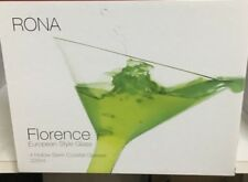 HOLLOW STEM Blown Glass RONA FLORENCE MARTINI  GLASSES  Set of 8  FOR $75